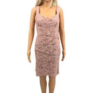 NWT Scarlett Nite Multi-Tied Pink Lace Dress S-10